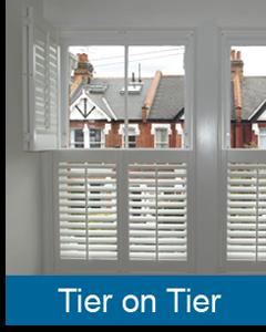 tier on tier plantation shutters