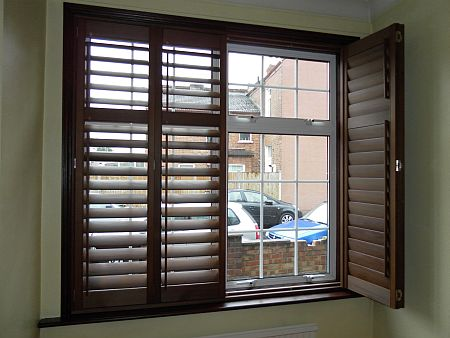 Wooden plantation shutters window shutters wood shutters for Shutter styles