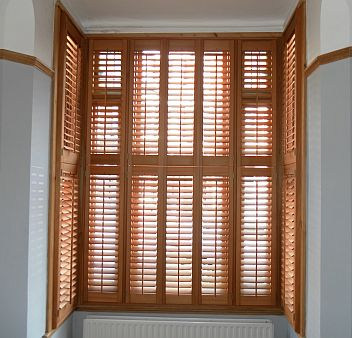 French Interior Design on Wooden Window Shutters Recently Installed In Ealing  London