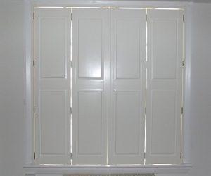 Solid bi fold shutters window shutters by shutter master - Solid panel interior window shutters ...
