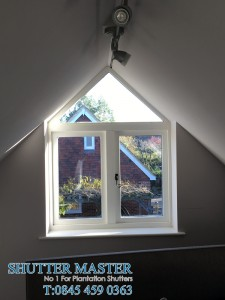 Shaped window shutter