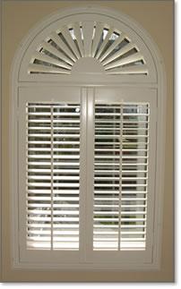 Image Of Arched Shutter With Fantop