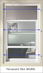 Image Showing Where to Measure For Plantation Shutters