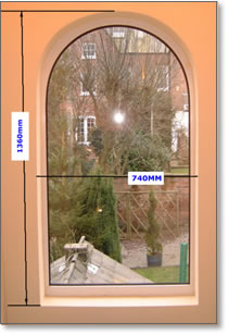 Preparing Arched Window For Shutters