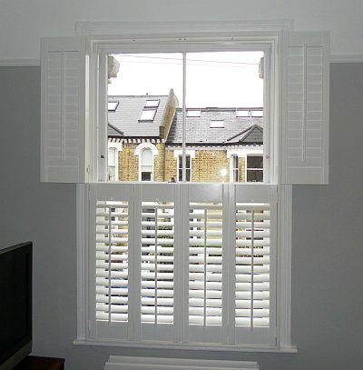 Shutters london by shutter master for Indoor wood shutters white