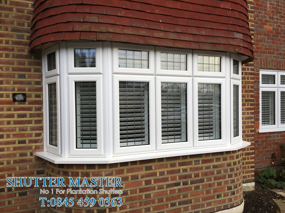 Bay Window Shutters in Eastcote, Middlesex
