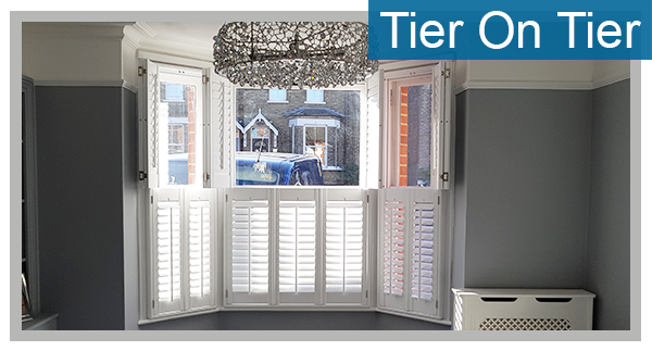 Tier on Tier Plantation Shutters