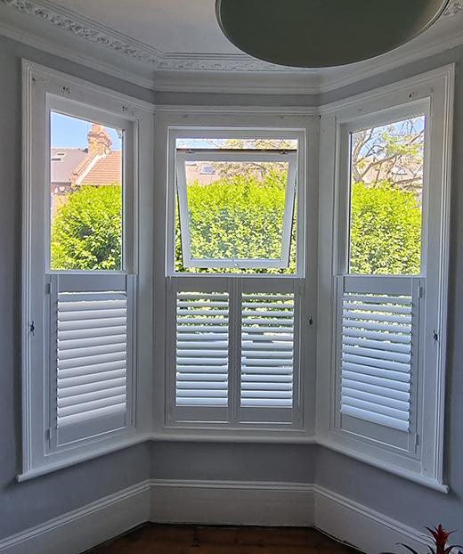 Half height window shutters