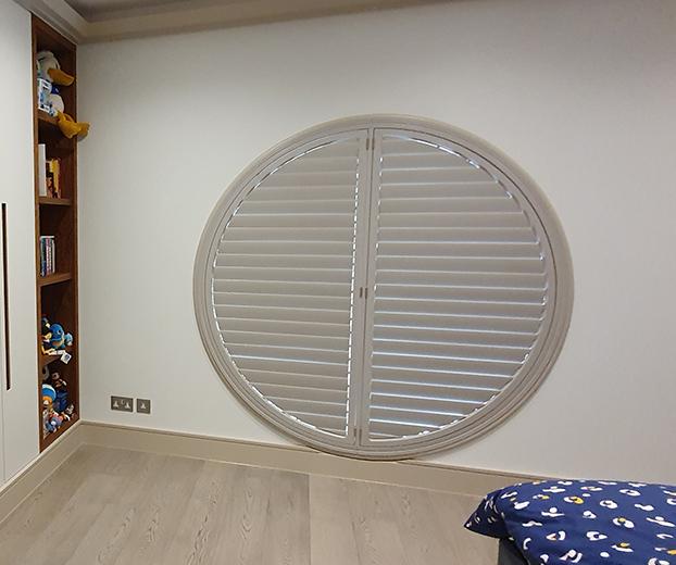 shaped window shutters